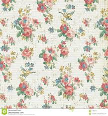 Shabby Chic Style Wallpaper by Vintage Rose Floral Wallpaper Shabby Chic Royalty Free Stock Photo