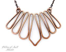 solid copper necklace images Wire wrapped jewelry handmade pendants rings by pillarofsaltstudio jpg