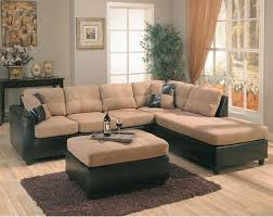 leather and microfiber sectional sofa the elegant wildon home bailey microfiber sectional sofa