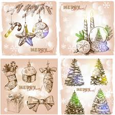 vintage christmas cards vector christmas vector clip art free