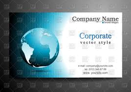business card template with globe vector image 47128 u2013 rfclipart