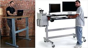 desk bekant sitstand desk reviews the geekdesk left and the