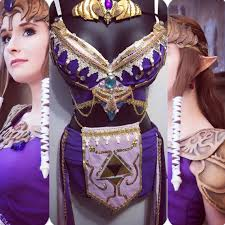 Zelda Halloween Costumes Princess Zelda Rave Bra Rave Wear Festival Cosplay