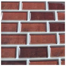 Backsplash Tile For Kitchen Peel And Stick by Peel And Stick Brick Backsplash Tiles Kitchen Smart Tiles 5 8 Sq