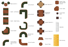 Furniture For Floor Plans Cafe And Restaurant Floor Plan Solution Conceptdraw Com