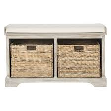 awesome solid wood storage bench reviews allmodern intended for