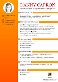 New Resume Templates Format Of An Resume Resume Format And Resume Makerresume New