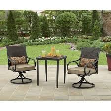 wicker patio bistro set garden backyard furniture 3 piece chairs