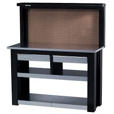 54 in professional steel workbench with back wall storage wbg