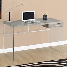 computer desk glass metal top 62 hunky dory sauder computer desk kids glass table black metal