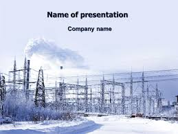 ppt templates for electrical engineering snowcovered power line powerpoint template backgrounds 06828