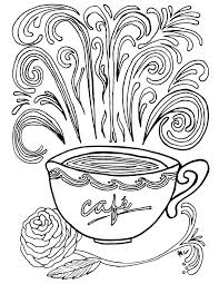 complex coloring pages cup coffee coloringstar
