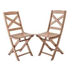 chaises pliables lot de 2 chaises pliables pour jardin ou balcon lotta bois pin