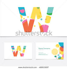 creative letter v design vector template stock vector 414032794