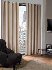Curtains 240cm Drop Ready Made Chenille Eyelet Curtains Ebay