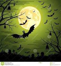 halloween background moon happy halloween background with moon and bats stock vector image