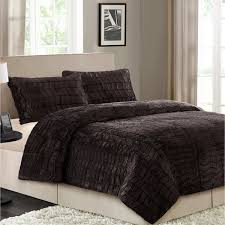 Fur Bed Set Better Homes And Gardens Faux Fur Chocolate Herringbone Queen 3
