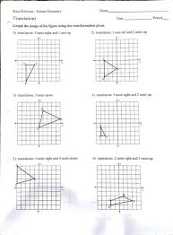 geometry worksheets transformations f koogra