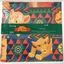 lion king wrapping paper vintage 1994 disney lion king new in package wrapping paper and