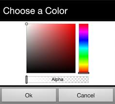 java android color picker to be included in the activity stack