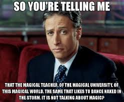 So You Re Telling Me Meme - so you re telling me that the magical teacher of the magical