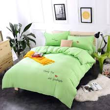 Bright Green Comforter The Benefit Of Lime Green Bedding Is That It Works With Almost Any