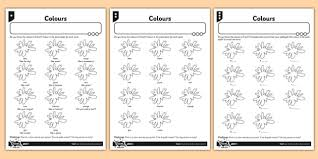 french colours activity sheet french activity colours