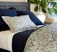 Organic Duvet Cover King Bedroom Paloma Paisley Organic Duvet Cover Sham Pottery Barn For