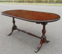Oval Mahogany Coffee Table Mahogany Pedestal Coffee Table By Strongbow