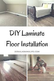 Installation Of Laminate Flooring Diy Laminate Floor Installation Our Alabama Life
