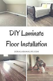 Glueless Laminate Flooring Diy Laminate Floor Installation Our Alabama Life