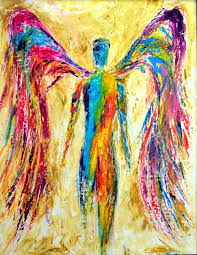Colorful Painting by Contemporary Angels Art Ivan Guaderrama Official Site