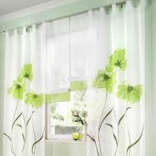 Bilder Schlafzimmer Amazon Amazon De Souarts Grün Stickerei Transparent Gardine Vorhang