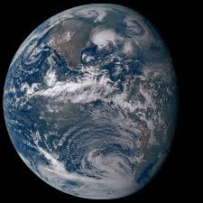 earth as seen from the goes 16 geostationary weather satellite