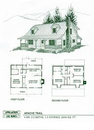 log home floor plans with garage modern farmhouse cabin floor plan and elevation 1015sft plan 452 3