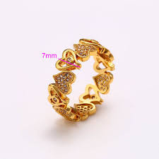 rings fashion gold images China fashion xuping jewelry 24k gold plated ring with love heart jpg