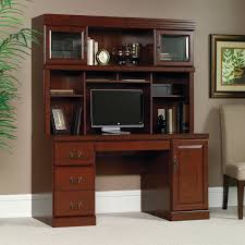 Bush Computer Desk With Hutch by Salinas Mission Writing Desk With Hutch Aged Tobacco Hayneedle