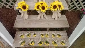 sunflower wedding bouquet sunflower bouquet 10 wedding flower set bridal bouquet