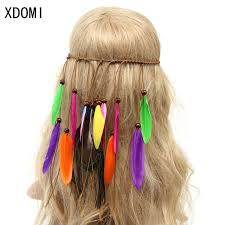 boho hair accessories hot fashion bohemian festival feather headband hippie headdress