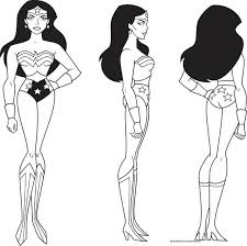 justice league wonder woman turnaround characters model sheets