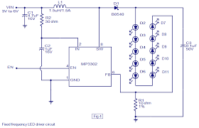 led driver based on mp3302 led driver ic working circuit diagram