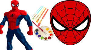 spiderman mask halloween diy how to make amazing spiderman mask paint for children easy