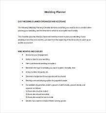 easy wedding planning wedding planner template 10 free word pdf documents