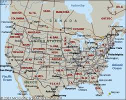 map of united states with states and cities labeled usa map of states and cities