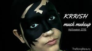 krrish mask makeup halloween 2016 youtube