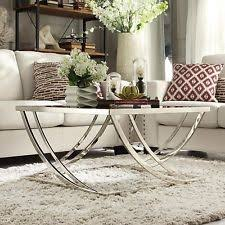 Chrome And Glass Coffee Table Chrome Coffee Table Ebay