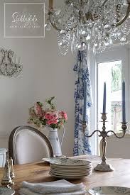 Blue Toile Curtains A Touch Of Toile In The Dining Room Shabbyfufu