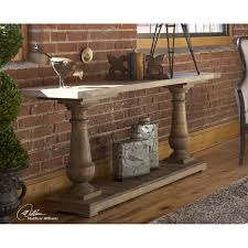 salvaged wood console table uttermost stratford fir wood console table on sale