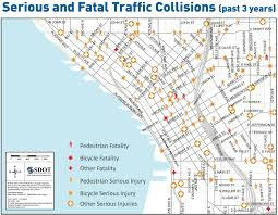 seattle map traffic killed and seriously injured in shared bike collision