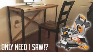 Simple Diy Desk by Simple Diy Desk With Metal Legs Youtube